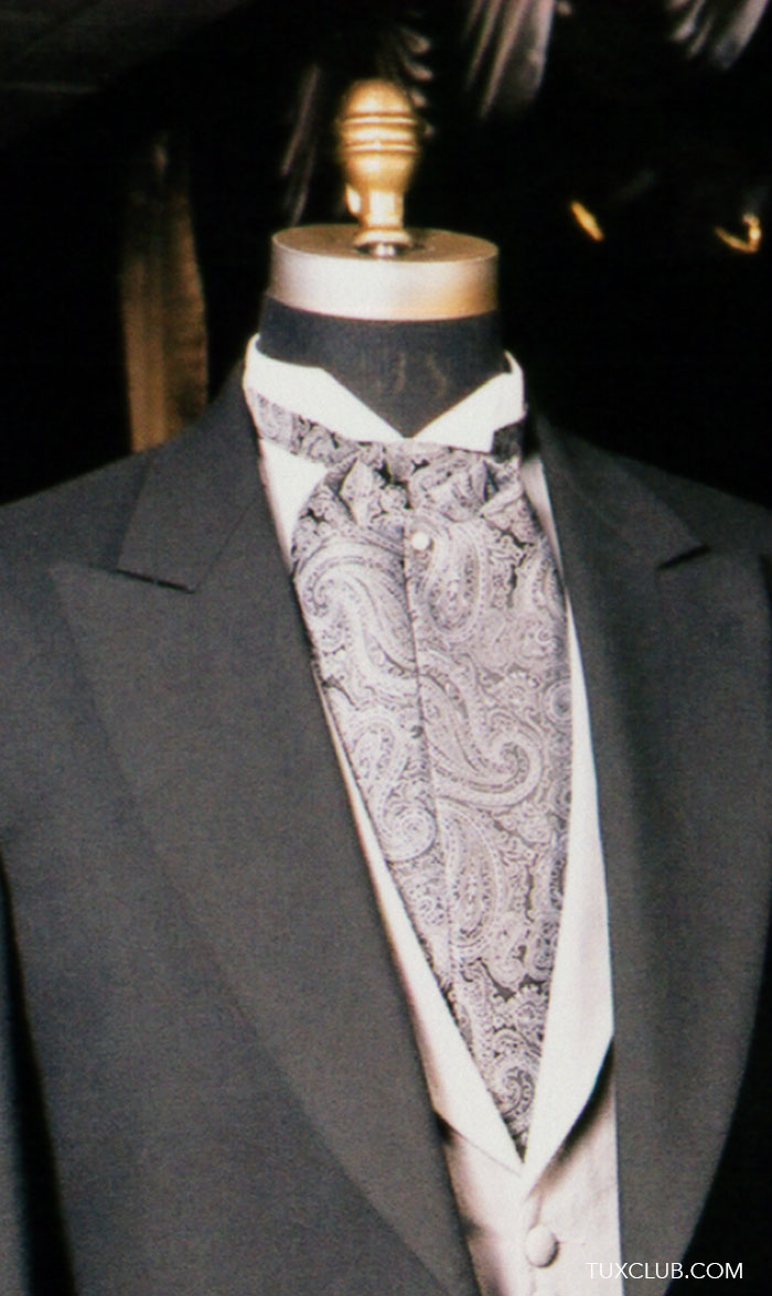 Charcoal Cutaway With Dove Gray Vest And Black And Silver