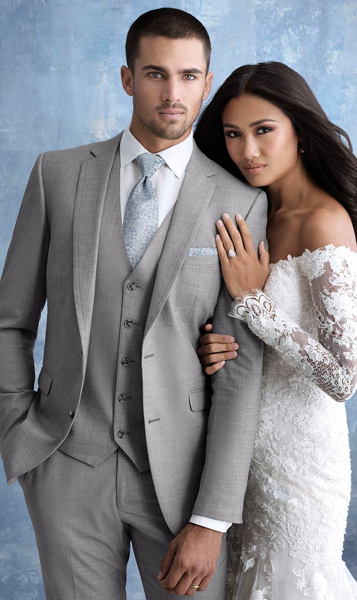 Heather Gray Wedding Tuxedo and Suit