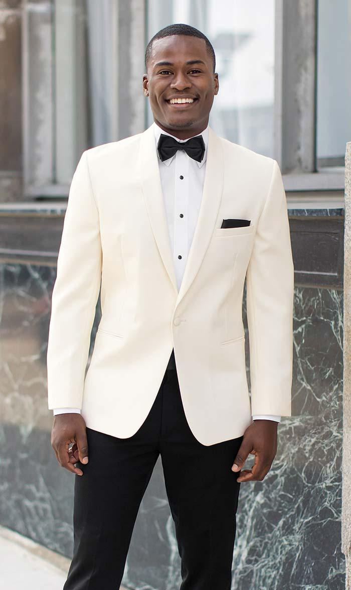 Ivory Tuxedo With Shawl Collar