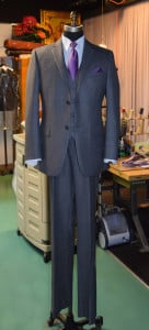 Sharkskin Gray Suit