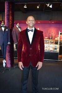 Burgundy Velvet Tuxedo