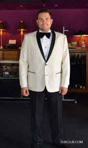 Ivory Tuxedo with black shawl collar