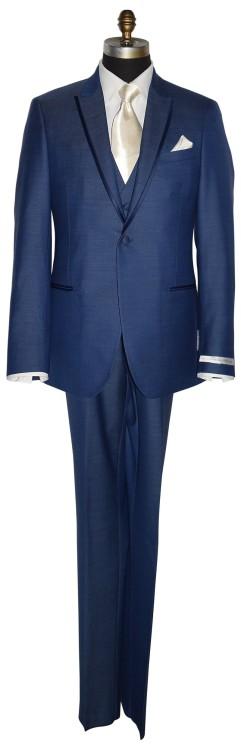 New Blue Ultra Slim with Ivory Dress Tie