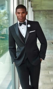 Black Slim Fit Tuxedo Peak Lapel