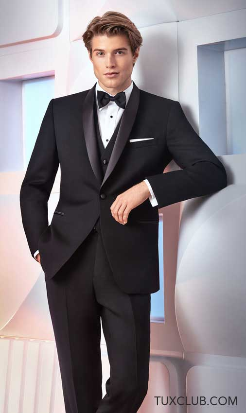 shawl collar black tux