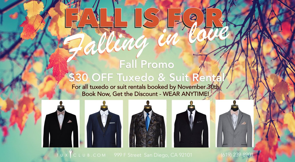 Fall Wedding Tuxedo Promotion