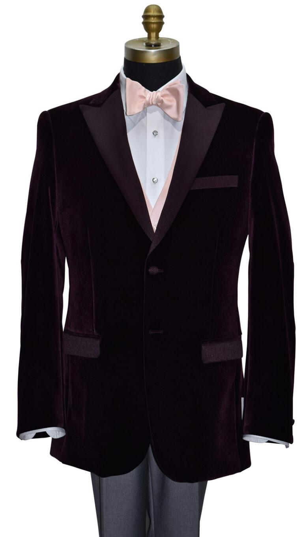 Plum Velet Tuxedo Jacket