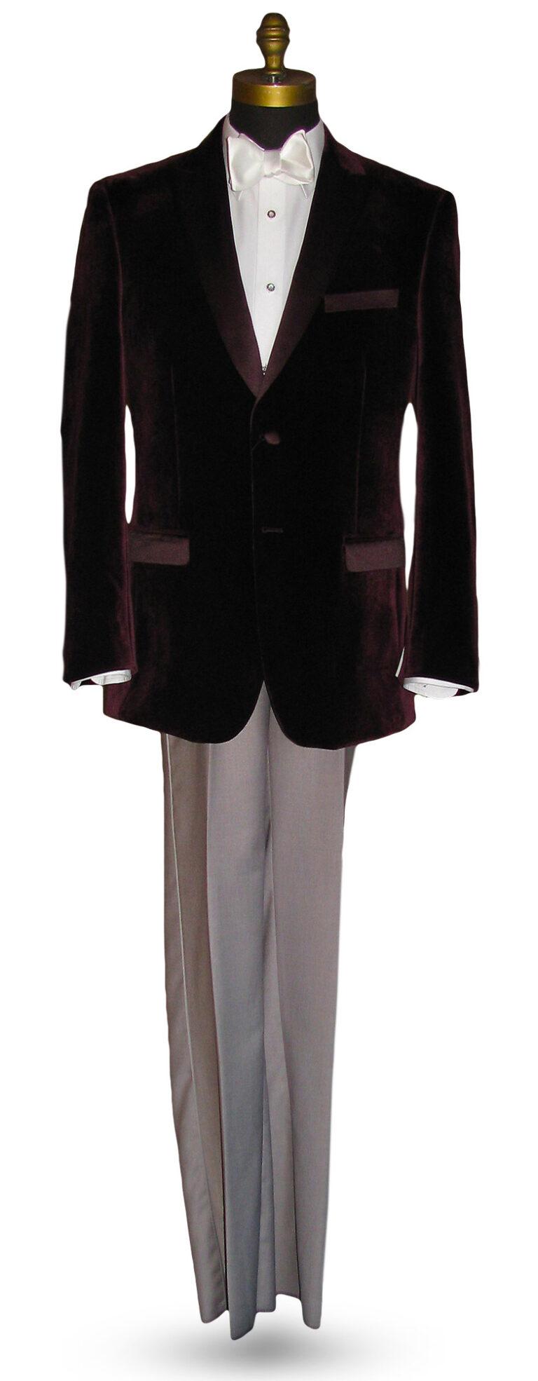 Plum Velvet Tuxedo Jacket