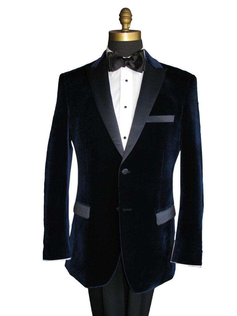 Midnight Blue Velvet Tuxedo Jacket