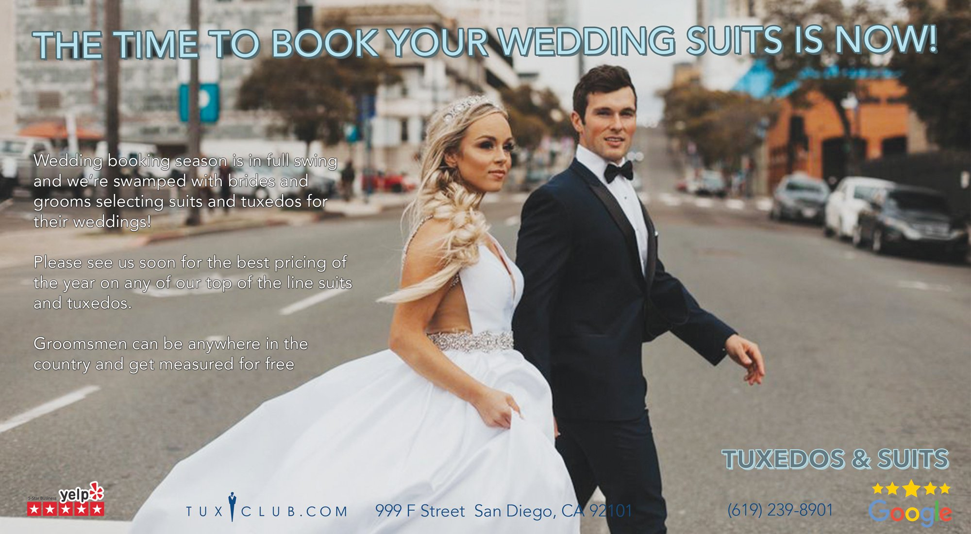 Wedding Tuxedos and Suit Booking Season